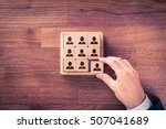human resources  social... | Shutterstock . vector #507041689