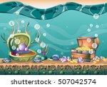 cartoon vector underwater...   Shutterstock .eps vector #507042574