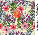 seamless pattern with colorful...   Shutterstock . vector #507044854
