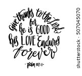 give thanks to the lord for he... | Shutterstock .eps vector #507045070