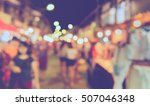 vintage tone blur image of... | Shutterstock . vector #507046348