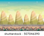 cartoon vector nature landscape ... | Shutterstock .eps vector #507046390