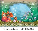 cartoon vector underwater...   Shutterstock .eps vector #507046489