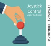 joystick control concept.... | Shutterstock .eps vector #507054154