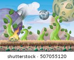 cartoon vector landscape with...   Shutterstock .eps vector #507055120
