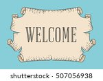 greeting card with old vintage... | Shutterstock .eps vector #507056938