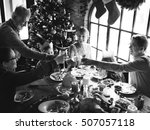 family together christmas... | Shutterstock . vector #507057118