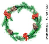 Christmas Wreath In Color