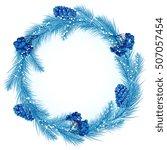 Christmas Wreath In Blue