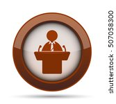 speaker icon. internet button... | Shutterstock . vector #507058300