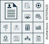 set of 12 universal editable... | Shutterstock .eps vector #507059620
