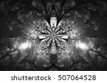 Abstract Monochrome Flower On...