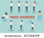 panic disorder infographic... | Shutterstock .eps vector #507068299