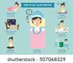 how to get sleep better... | Shutterstock .eps vector #507068329