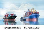 logistics and transportation of ... | Shutterstock . vector #507068659
