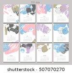 creative calendar. template... | Shutterstock .eps vector #507070270
