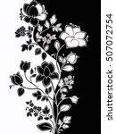 figured flower pattern. the...   Shutterstock . vector #507072754
