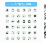 36 shopping online icons | Shutterstock .eps vector #507073600