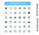 36 shopping online icons | Shutterstock .eps vector #507073600