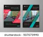 abstract a4 brochure cover... | Shutterstock .eps vector #507073990
