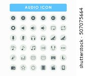 36 audio bold icons | Shutterstock .eps vector #507075664