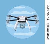 flying drones vector...   Shutterstock .eps vector #507077344