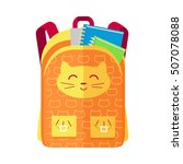 backpack schoolbag icon with a... | Shutterstock .eps vector #507078088