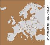eu europa map vector | Shutterstock .eps vector #507078154