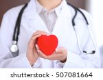 female doctor with stethoscope... | Shutterstock . vector #507081664