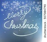 poster merry christmas  on... | Shutterstock .eps vector #507084790