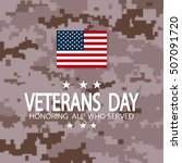 veterans day  november ... | Shutterstock .eps vector #507091720