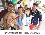 abundance of confetti and new... | Shutterstock . vector #507092428
