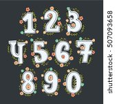 Cute Floral Numbers With Decor...