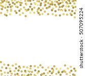 vector background with confetti.... | Shutterstock .eps vector #507095224
