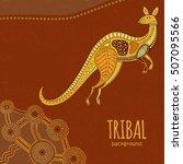 kangaroo background in...   Shutterstock .eps vector #507095566
