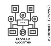 program algorithm thin line ...