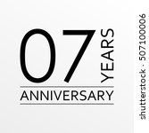 7 years anniversary emblem.... | Shutterstock .eps vector #507100006