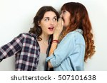 funny girls. friendship concept ... | Shutterstock . vector #507101638