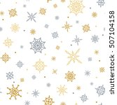 christmas and winter background ... | Shutterstock .eps vector #507104158
