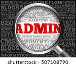 admin word cloud with...   Shutterstock . vector #507108790