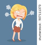angry screaming office worker... | Shutterstock .eps vector #507111373
