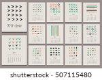 creative calendar 2017. hand... | Shutterstock .eps vector #507115480