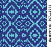 ethnic blue seamless pattern.... | Shutterstock .eps vector #507119398