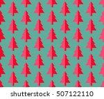 christmas tree seamless pattern ...   Shutterstock .eps vector #507122110