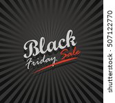 black friday sale logo design... | Shutterstock .eps vector #507122770