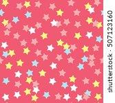 donut glaze seamless pattern.... | Shutterstock .eps vector #507123160