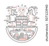 love in the city   illustration ... | Shutterstock .eps vector #507123940