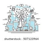 illustration of vector modern... | Shutterstock .eps vector #507123964