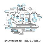 illustration of vector modern... | Shutterstock .eps vector #507124060