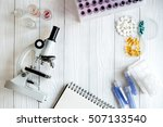 workplace lab assistant with...   Shutterstock . vector #507133540